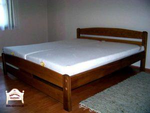 Pontjó tölgyfa Tömörfa franciaágy 160x200 matraccal 140x200 180x200 méretben is
