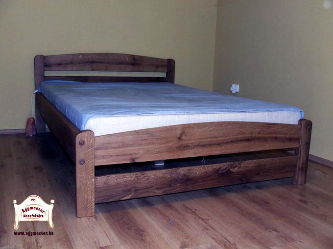 Pontjó Tölgyfa keményfa franciaágy 160x200 matraccal 140x200 180x200 méretben is