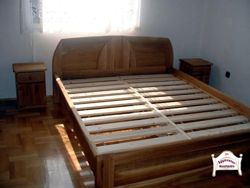 Egyedi méretű francia ágy keményfa