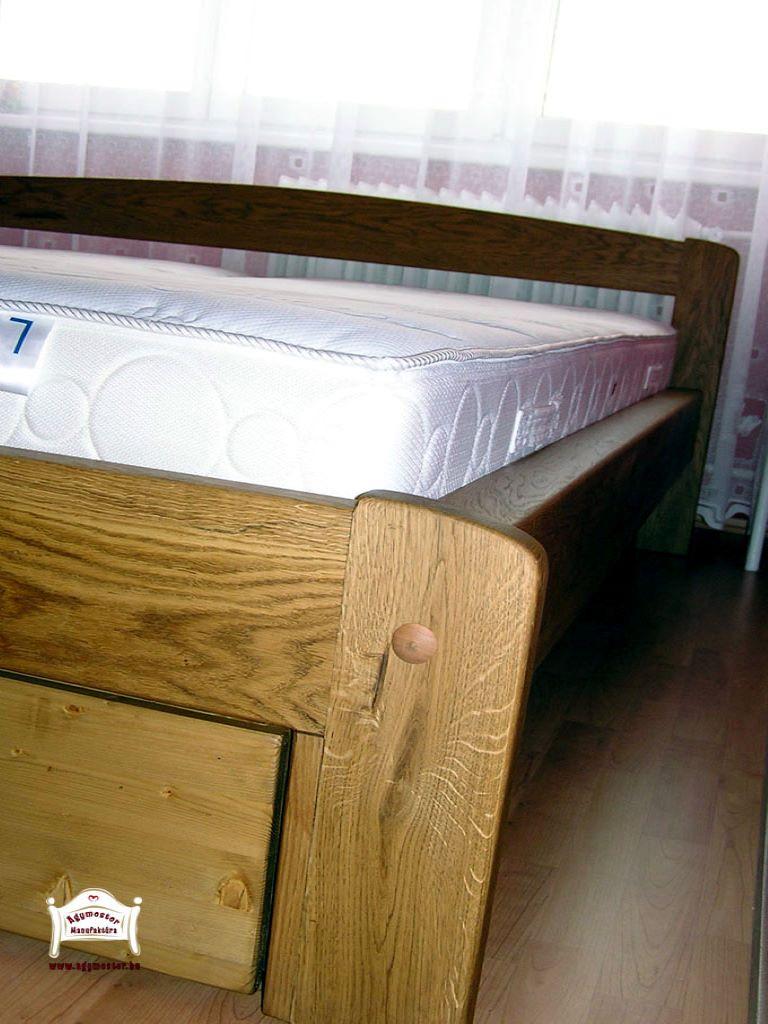 Tölgyfa francia ágy fiókos 140x200 160x200 180x200