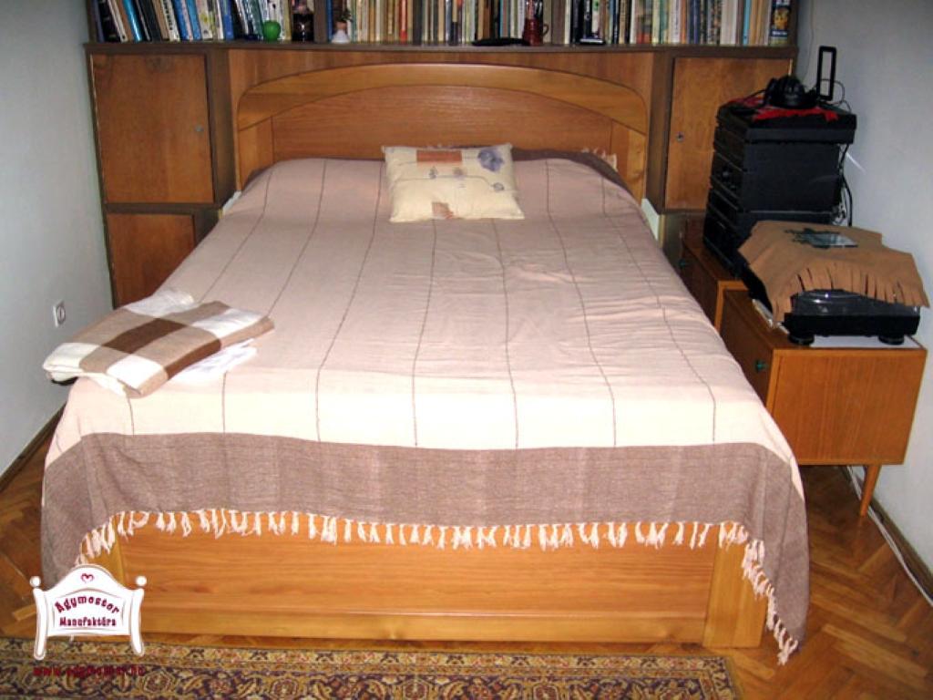 Pácolt juharfa ágy ágyneműtartós kivitelben 140x200 160x200 180x200 méretben