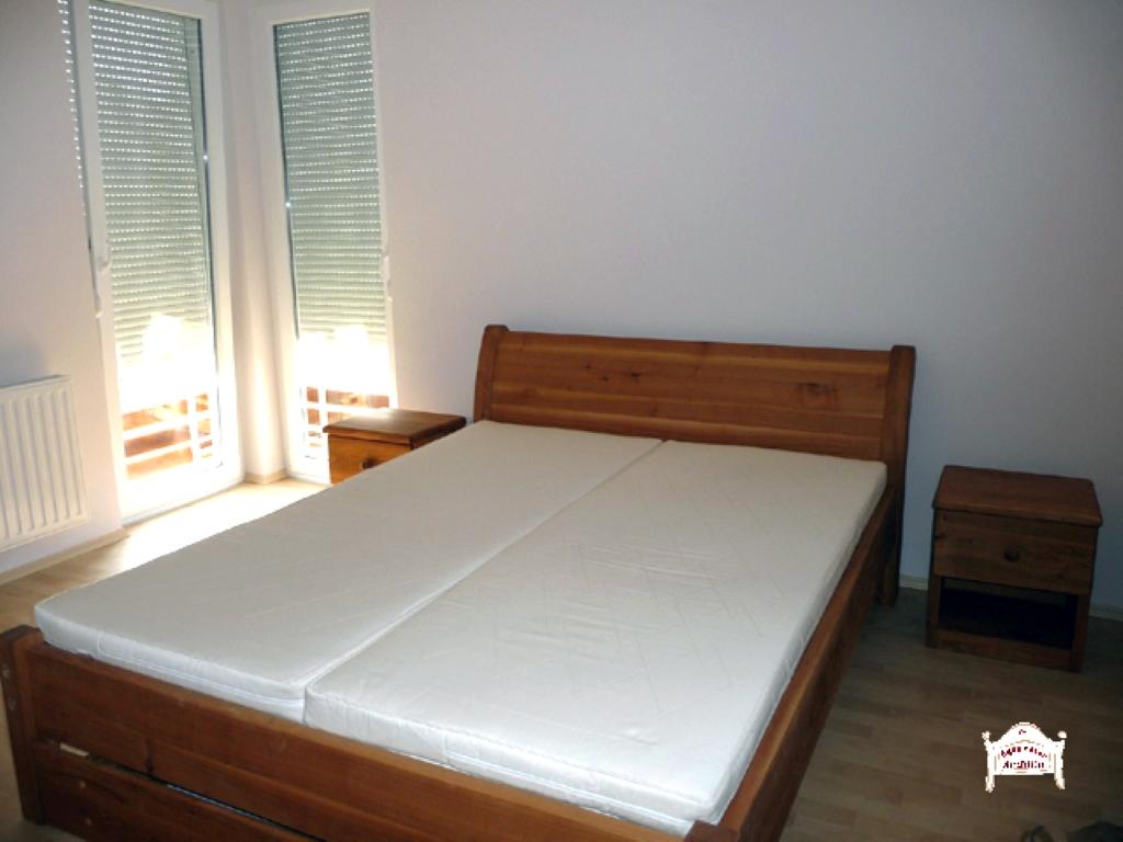 Hálószoba ágy pácolt felület tömörfa anyagból140x200 160x200 180x200
