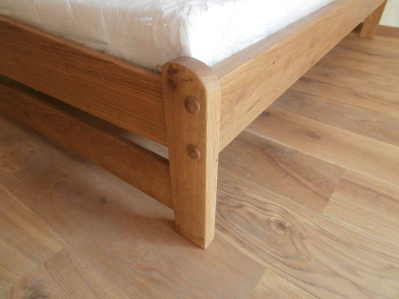 Tölgyfa franciaágy matraccal 160x200 180x200 200x200