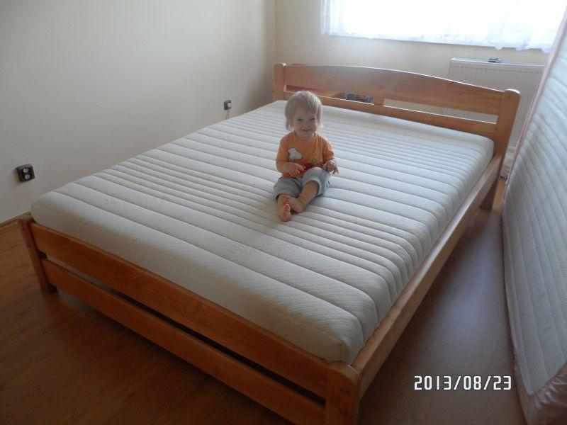 Pontjó Juharfa Tömörfa franciaágy 160x200 matraccal 140x200 180x200 méretben is