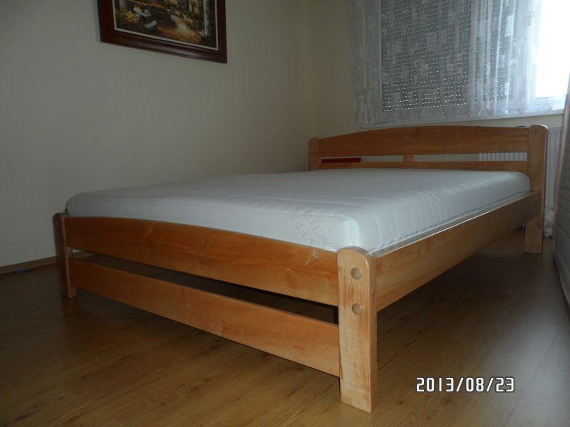 Pontjó keményfa Tömörfa franciaágy 160x200 matraccal 140x200 180x200 méretben is