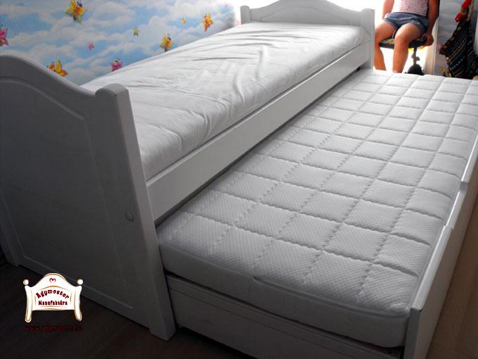 Fehér ágy és kényelmes vendégágy 80x200 és egyedi méretben is
