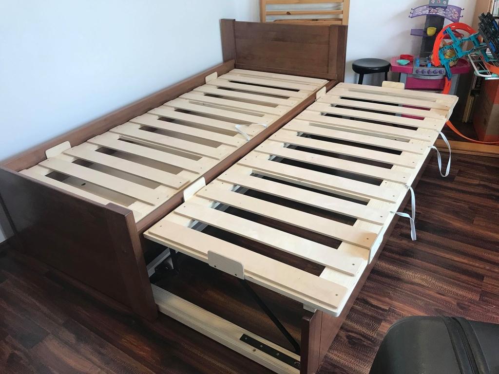 Tömör fa ágykeret vendégágy és ágyneműtartó 160x200 180x200 egyedi méret is