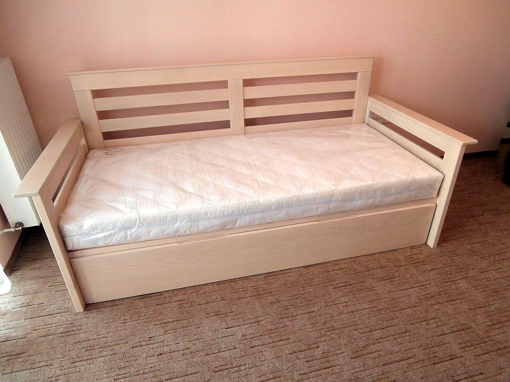 Vendégszerető ágy ágyneműtartós kivitel natúr juharfa 160x200 180x200 méretben