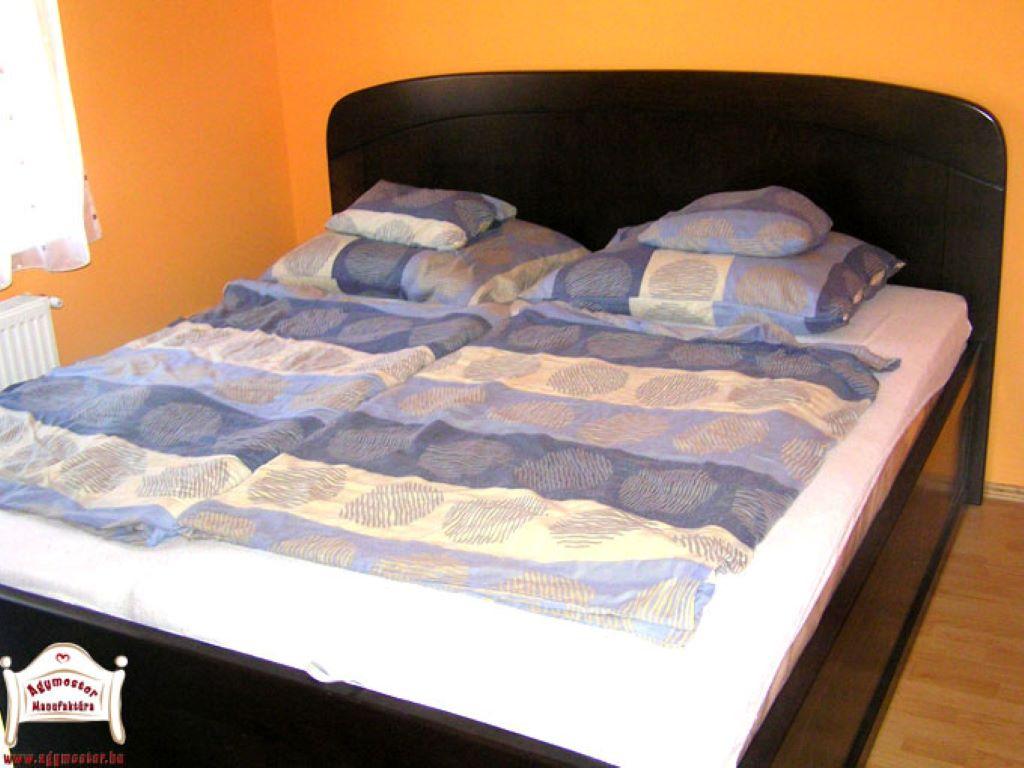Hálószoba ágy 140x200 keményfa egyedi méretben is matraccal