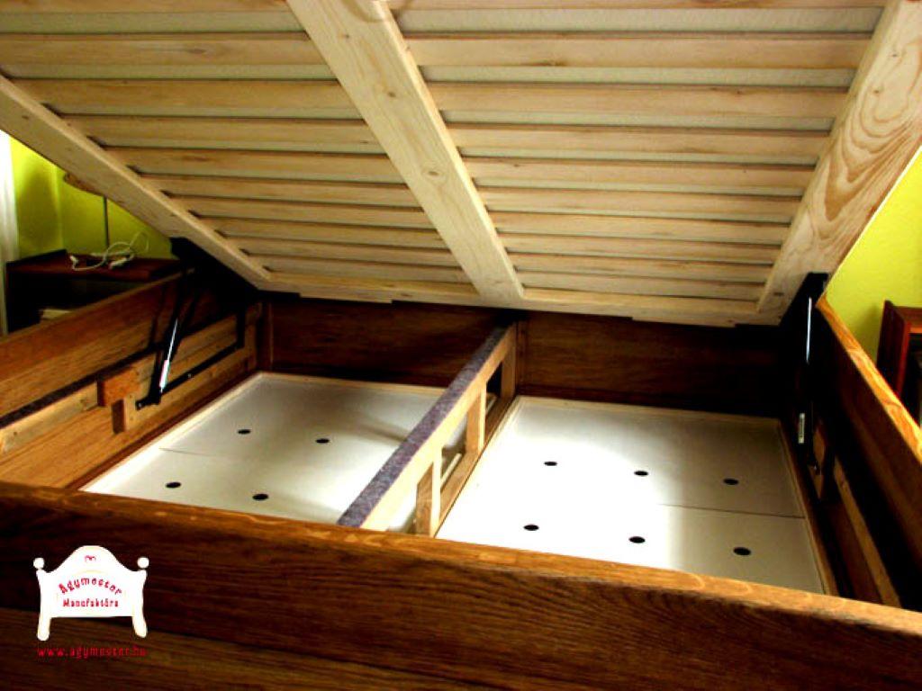 200x200 ágy egyedi kivitel gázrugós ágyneműtartó
