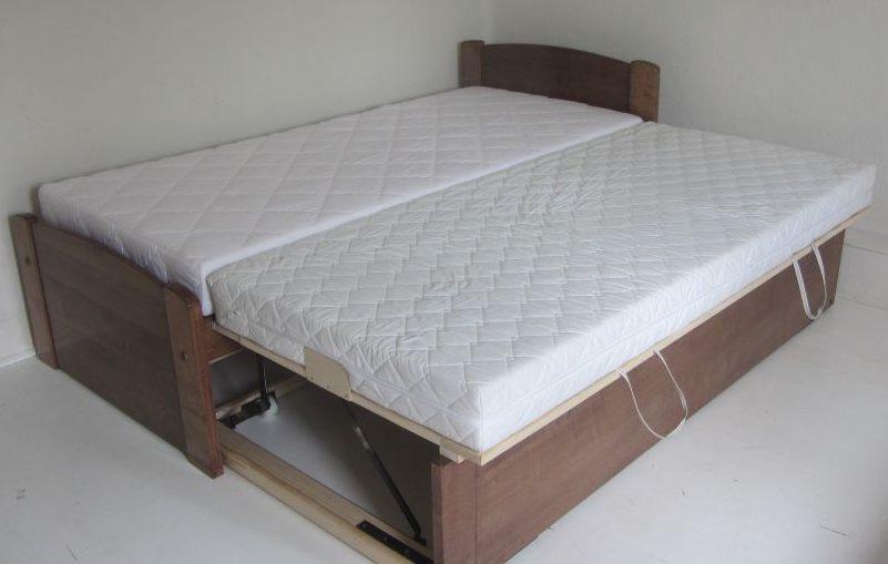 Keményfa Felnőtt ágy ágyneműtartós vendégágy 160x200 180x200